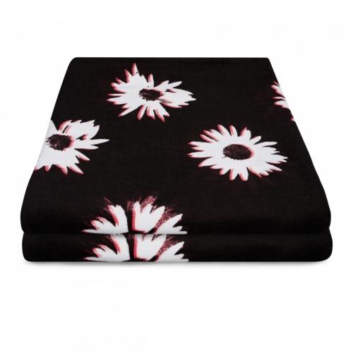 TOWEL QUICKDRY BLACK WHITE törölköző