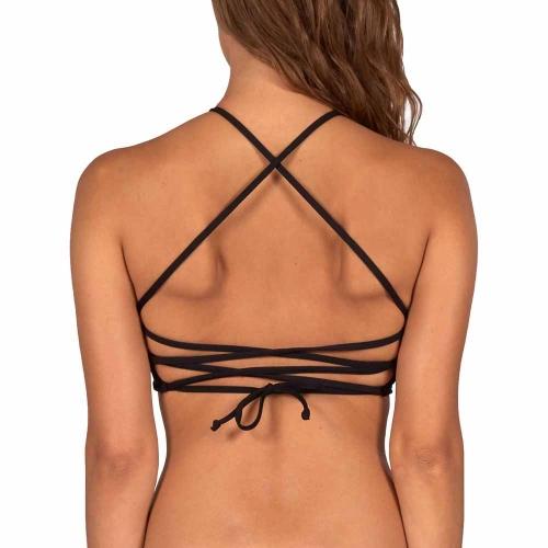 SOL SEARCHER HI NECK bikini top